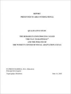 The Criminon Honduras Study